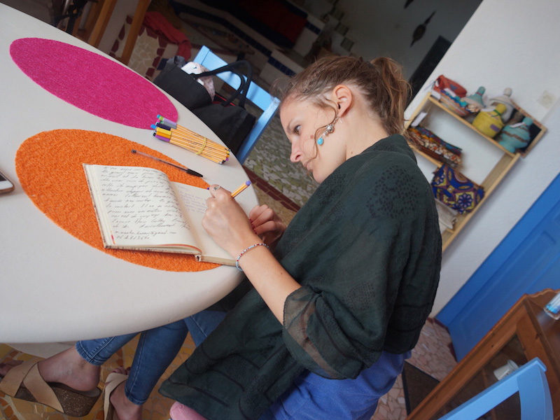 L'écriture pendant le voyage