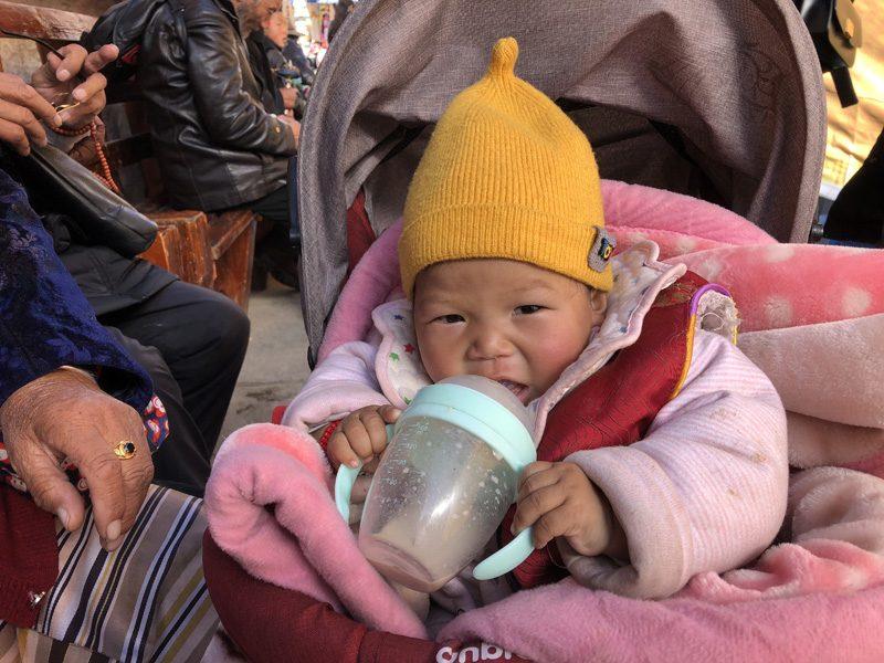 Portraits d'enfants tibétains